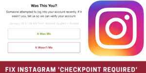 fix instagram checkpoint required error